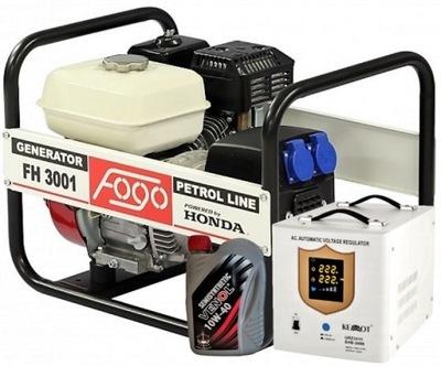 Приводимый в действие генераторная установка FH3001 3квт + масло + ВНЕШНЕЕ. AVR