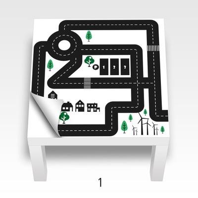 наклейка стол Икеа ЛАКК, мебель, стены. Выбор