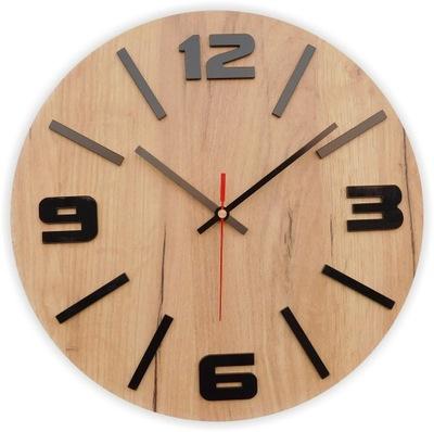 деревянный часы настенный Дуб CRAFT  35СМ тихий