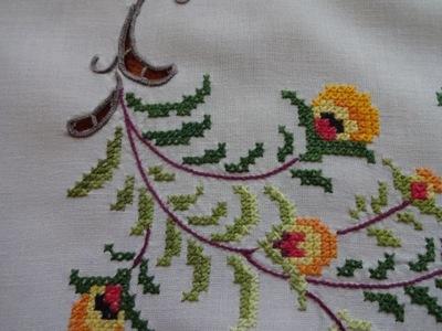Obrus haft ręczny krzyżykowy