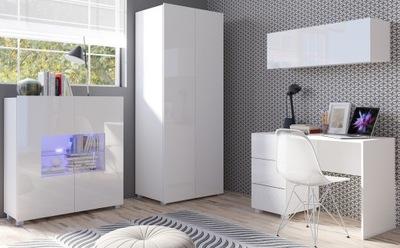 Мебель молодежные шкаф стол Белый блеск MODERN