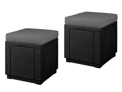 2 KRESLÁ NÁBYTOK STOLIČKA Cube Curver GRAFIT