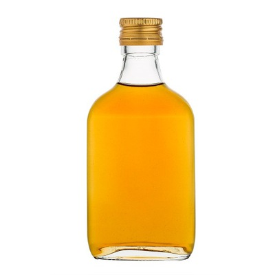 Butelki piersiówki 200 ml z zakrętkami - 100 szt.