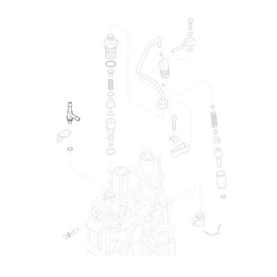 HATZ 01756800 тройник проводов топлива 1B20 1B30