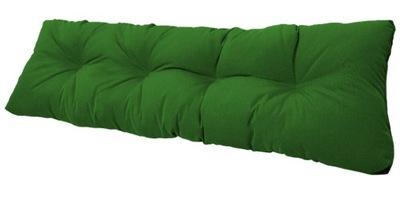 подушка на скамейку садовую качели 120x38 зеленый