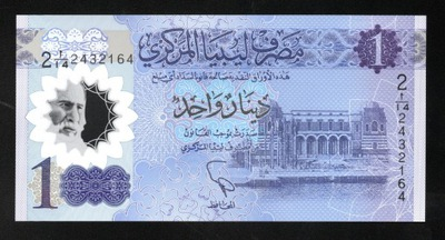 Libia 1 DINAR P-new UNC polimerowy