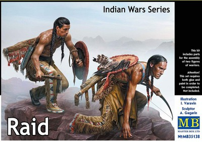 THE RAID фигурки модель 1 :35 Индейцы Лакота