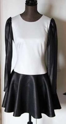 fffe9ca64b czarna sukienka Bizuu rozkloszowana jesienna S - 7074422076 ...