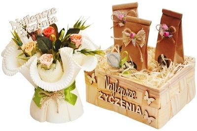Darček pre Učiteľa Deň Kôš Vôňou Čaju