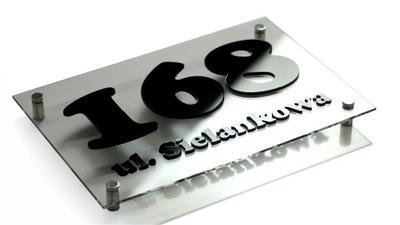 Табличка адресная табличка на дом 3d 20x30 ЦВЕТА