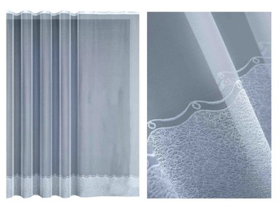 záclony SALON pásky 350x170 350x180 hladký