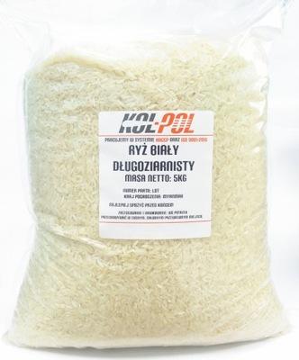 Рис Белый светлый длиннозернистый 5kg 5000g КАЧЕСТВО