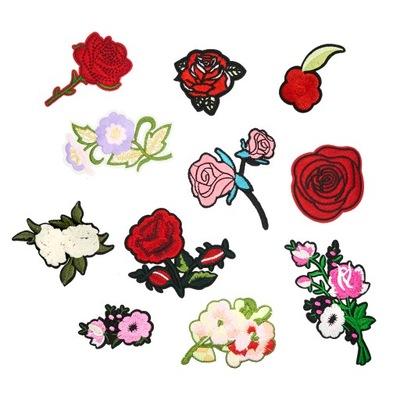 цветы нашивки термо розочки 11 штук комплект
