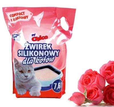 Наполнитель для кота силикон , запах розы, мелкий 7 ,6l