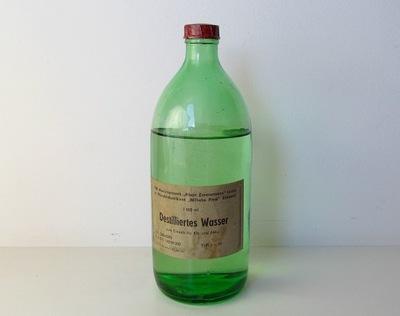 винтаж ГДР СТАРАЯ бутылка вода ДИСТИЛЛИРОВАННАЯ