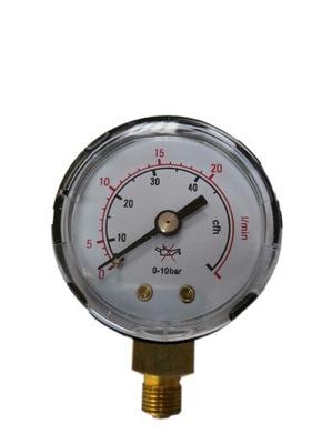 MANOMETR MINI ARGON CO2 ROBOCZY 20 L/MIN GWINT 1/8