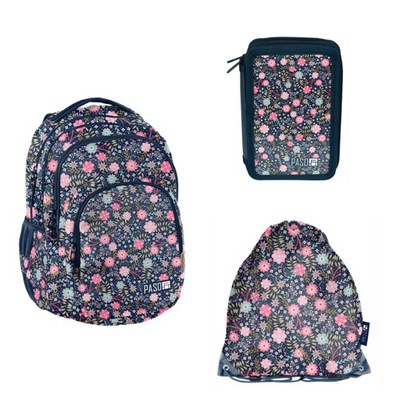 c17daf2c1 35 L batoh, peračník taška Paso tmavo modré kvety v