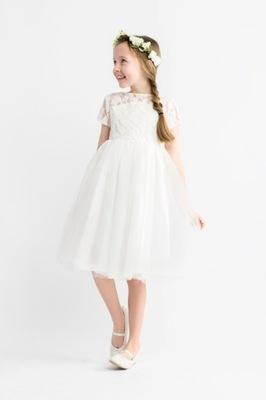 5684099fc7 Sukienka wizytowa elegancka komunia wesele 140 10 - 7195534352 ...