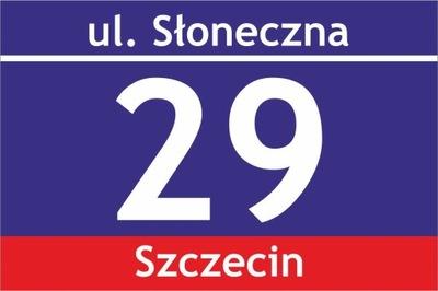 Доска адресная табличка с номером дома 30X20 см