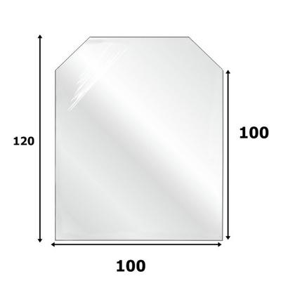 СТЕКЛО Основа ПОД КАМИН ЗАКАЛЕННОЕ стекло 120X100