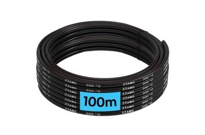 Кабель кабель силиконовый 22AWG Черный 100m