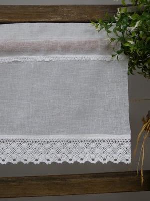 Zazdrostka firana 50 cm bawełniana koronka biała