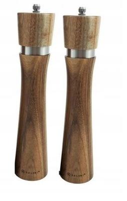 Mlynček na mlynčeky na soľ a korenie drevený set