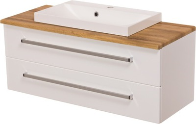 ФОКУС мебель для ванной комнаты белая шкаф 100 столешницу ???