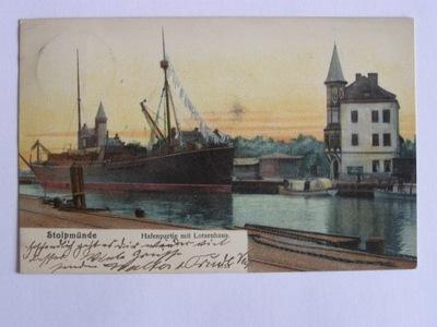 Ustka Stolpmuende Słupsk kapitanat portu 1905 lit.