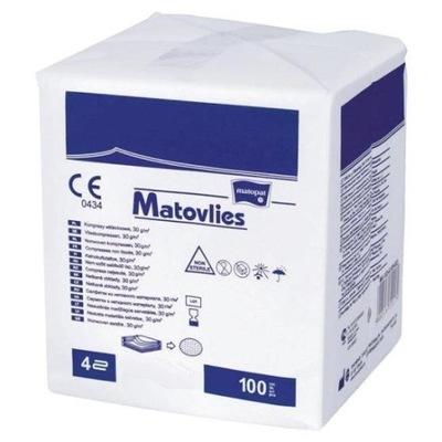 Kompresy gaziki z włókniny 7,5x7,5cm 100szt