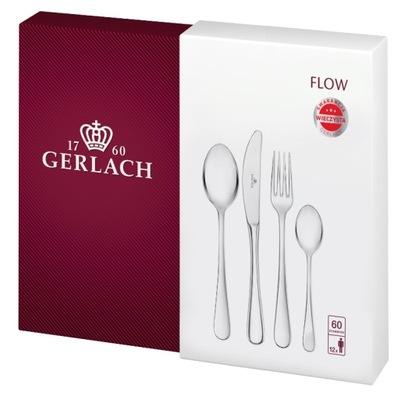 Gerlach Flow NK34 комплект столовых приборов 60el блеск