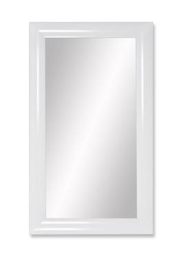 зеркало Рама СТИЛЬНАЯ 102x72 СМ белое блеск ВЫПУКЛАЯ