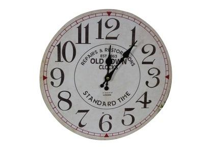 ZEKE Hodinky, nástenné hodiny 34 cm ošumelé retro VZORY