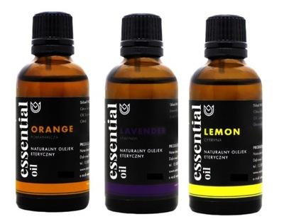 Set 3x 100 ml prírodný esenciálny olej, PREMIUM