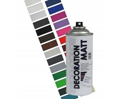 Farba spray MATOWA 400ml lakier spreju MIX KOLORÓW