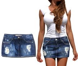 JM819 jeans JEANS spódniczka SPÓDNICA JEANSOWA XS