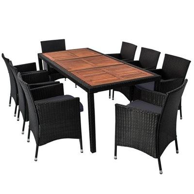 záhradný Nábytok pre 8 osôb uvedených stoličky tabuľka