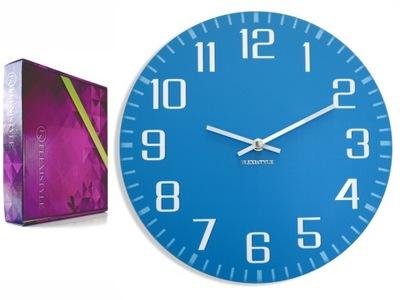 Moderné ľahko čitateľný nástenné hodiny FACILE blue