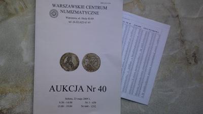 Katalog Aukcyjny WCN 40 + lista wynikowa