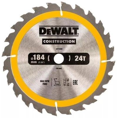 DeWALT štít drevo videl 184mm 16 mm 24z DT1939