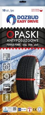 Łańcuchy śniegowe Dozbud EASY DRIVE opaski 10szt.