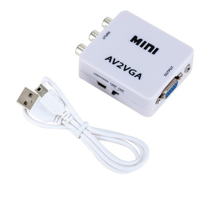 Konwerter wideo AV RCA CVBS na VGA