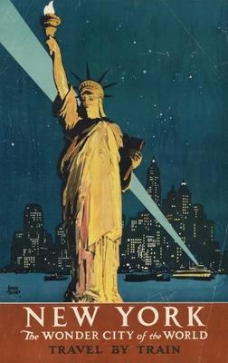 плакат туристический Новый - ЙОРК 50x32 см.
