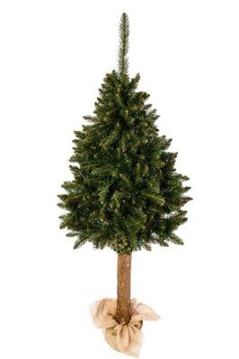Vianočné stromčeky - umelý Strom na kufra SMREK REÁLNE 1.6 M