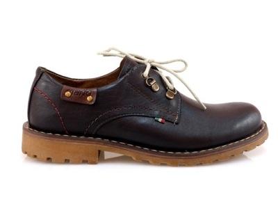 36% brązowe skórzane TRZEWIKI buty ECCO ETHAN 43