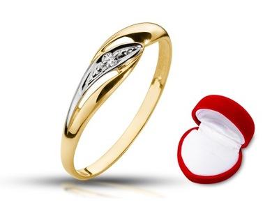 Pierścionek Zaręczynowy Z Diamentem 0025ct Sig 7287469786 Allegropl
