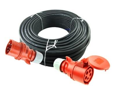 Gumené predlžovací kábel 25m 5x2,5 32A napájací konštrukcia