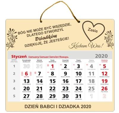 подарок День Бабушки Деда КАЛЕНДАРЬ 2020
