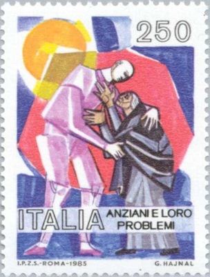 Италия 1985 Марку Мне 1906 ** старость женщина