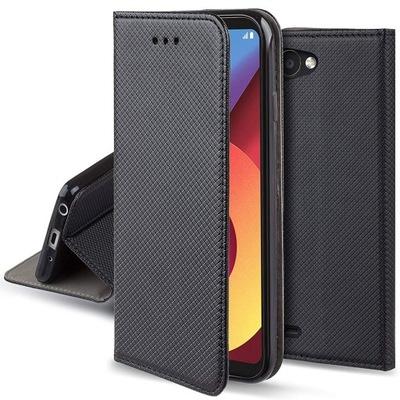 Etui Pokrowiec Magnet Case + Szkło do LG Q6
